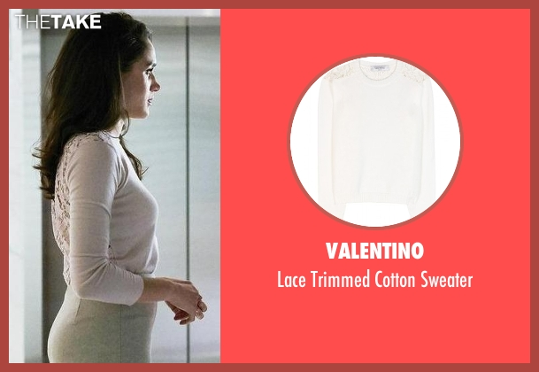 Valentino white sweater from Suits seen with Rachel Zane (Meghan Markle)