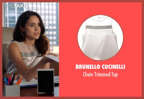 Brunello Cucinelli white top from Suits seen with Rachel Zane (Meghan Markle)