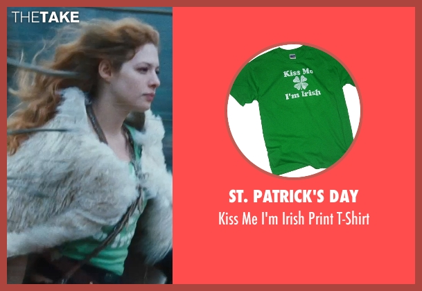 St. Patrick's Day green t-shirt from Twilight seen with Rachelle Lefevre (Victoria)