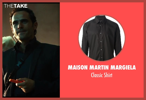 Maison Martin Margiela black shirt from A Good Day to Die Hard seen with Radivoje Bukvic (Alik)