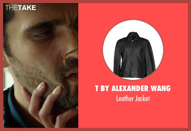 T By Alexander Wang black jacket from The Transporter: Refueled seen with Radivoje Bukvic (Karasov)