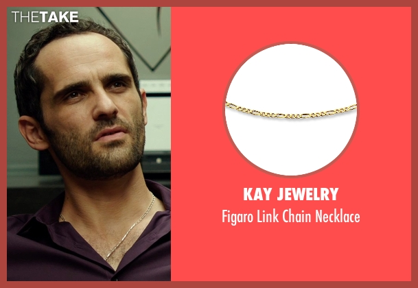 Kay Jewelry gold necklace from The Transporter: Refueled seen with Radivoje Bukvic (Karasov)