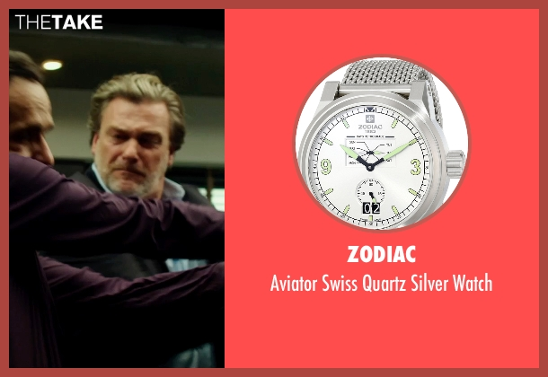 Zodiac silver watch from The Transporter: Refueled seen with Radivoje Bukvic (Karasov)