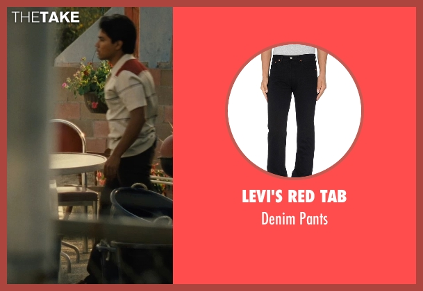 Levi's Red Tab black pants from McFarland, USA seen with Rafael Martinez (David Diaz)