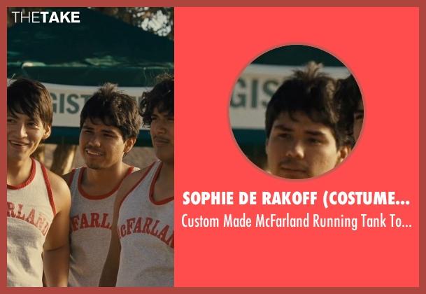 Sophie De Rakoff (Costume Designer) gray top from McFarland, USA seen with Rafael Martinez (David Diaz)