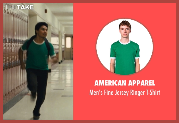 American Apparel green t-shirt from McFarland, USA seen with Rafael Martinez (David Diaz)