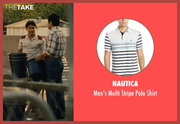 Nautica white shirt from McFarland, USA seen with Rafael Martinez (David Diaz)