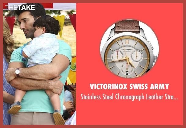 Victorinox Swiss Army  brown watch from Jane the Virgin seen with Rafael Solano (Justin Baldoni)