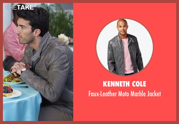 Kenneth Cole gray jacket from Jane the Virgin seen with Rafael Solano (Justin Baldoni)