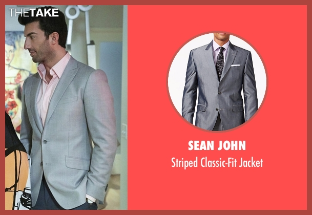 Sean John gray jacket from Jane the Virgin seen with Rafael Solano (Justin Baldoni)
