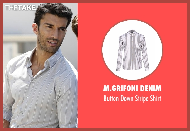 M.Grifoni Denim gray shirt from Jane the Virgin seen with Rafael Solano (Justin Baldoni)