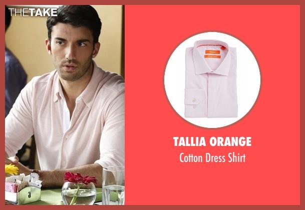 Tallia Orange pink shirt from Jane the Virgin seen with Rafael Solano (Justin Baldoni)