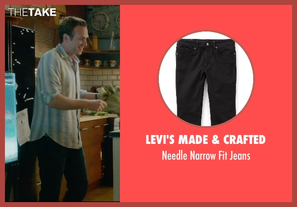 Levi's Made & Crafted black jeans from What If seen with Rafe Spall (Ben)