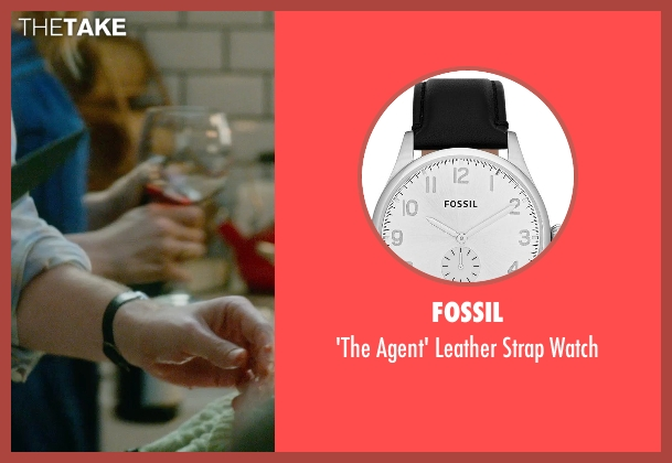 Fossil black watch from What If seen with Rafe Spall (Ben)