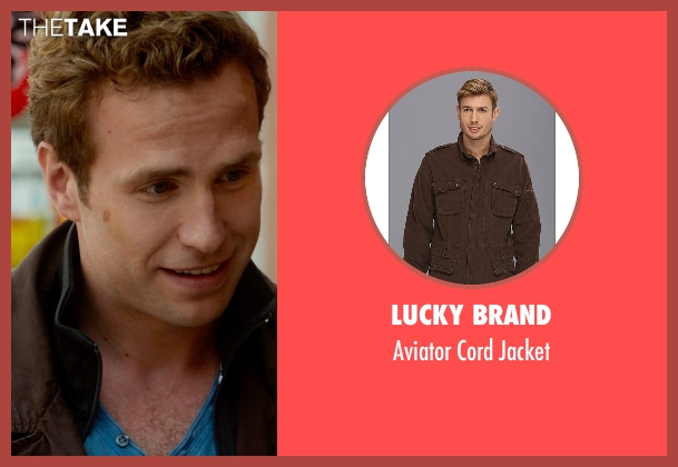 Lucky Brand brown jacket from What If seen with Rafe Spall (Ben)