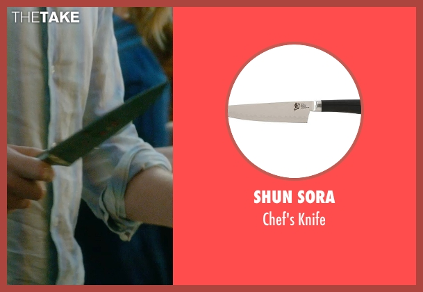 Shun Sora knife from What If seen with Rafe Spall (Ben)
