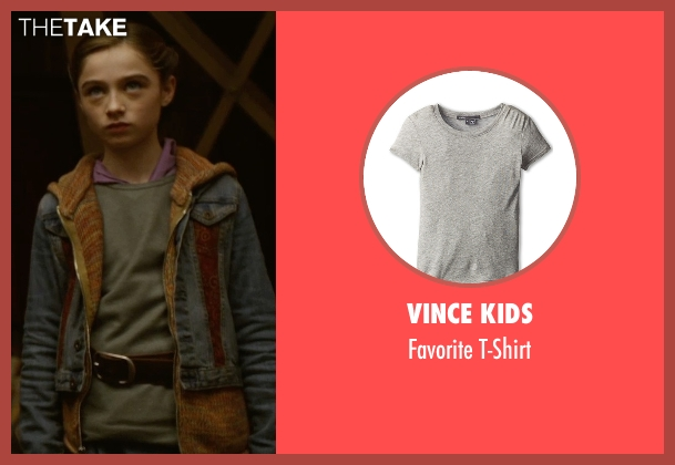 Vince Kids gray t-shirt from Tomorrowland seen with Raffey Cassidy (Athena)