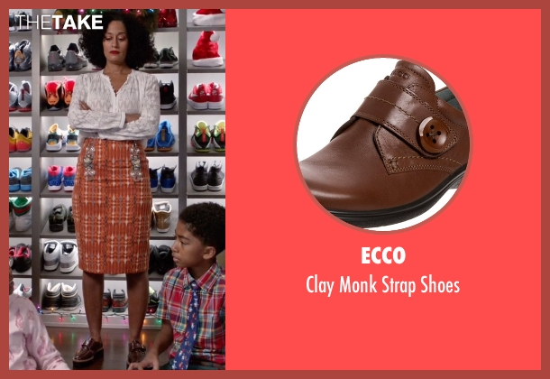 Ecco brown shoes from Black-ish seen with Rainbow Johnson (Tracee Ellis Ross)