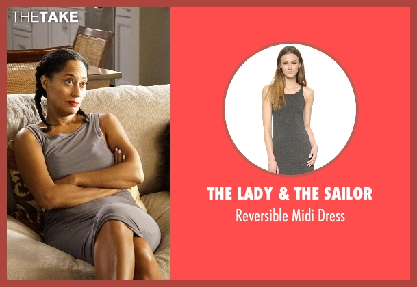 The Lady & The Sailor gray dress from Black-ish seen with Rainbow Johnson (Tracee Ellis Ross)