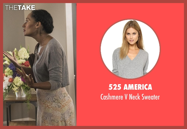 525 America gray sweater from Black-ish seen with Rainbow Johnson (Tracee Ellis Ross)
