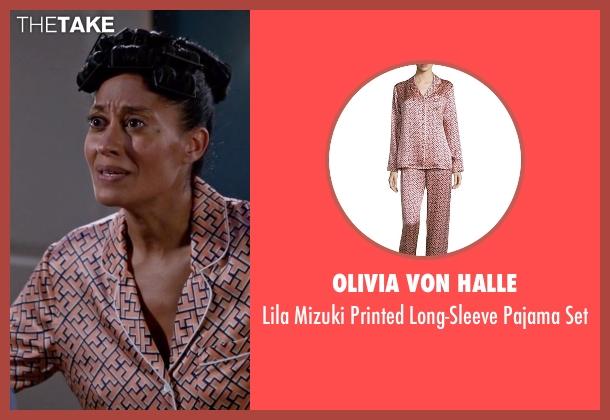 Olivia von Halle pink set from Black-ish seen with Rainbow Johnson (Tracee Ellis Ross)