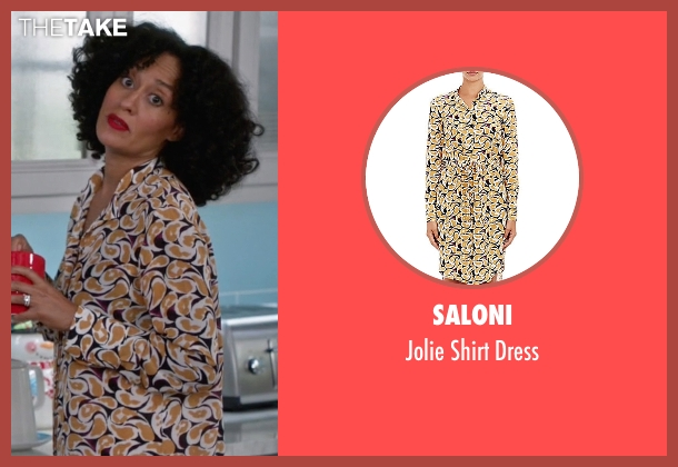 Saloni yellow dress from Black-ish seen with Rainbow Johnson (Tracee Ellis Ross)