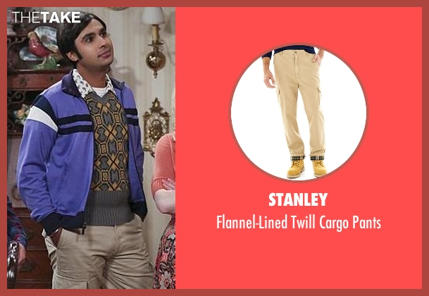 Stanley beige pants from The Big Bang Theory seen with Raj Koothrappali (Kunal Nayyar)