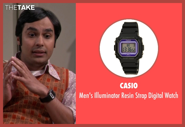 Casio black watch from The Big Bang Theory seen with Raj Koothrappali (Kunal Nayyar)