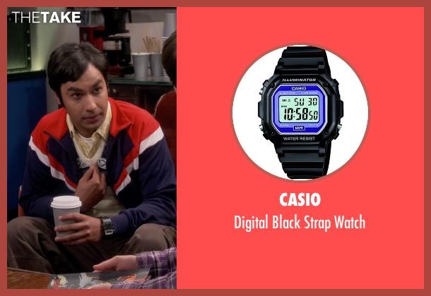 Casio black watch from The Big Bang Theory seen with Raj Koothrappali (Kunal Nayyar)