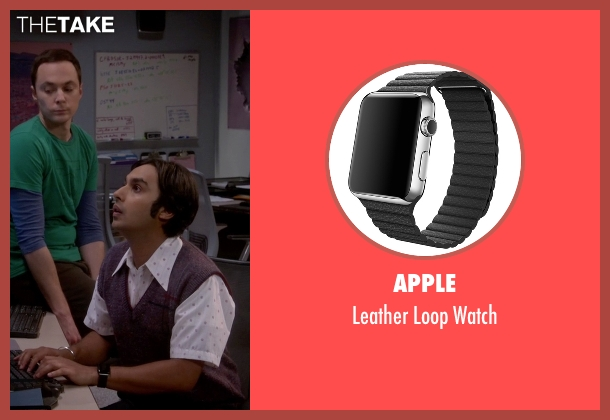 Apple black watch from The Big Bang Theory seen with Raj Koothrappali (Kunal Nayyar)