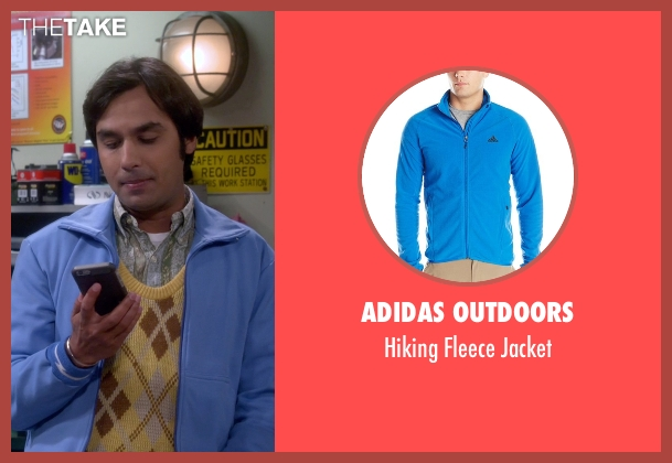 Adidas Outdoors blue jacket from The Big Bang Theory seen with Raj Koothrappali (Kunal Nayyar)