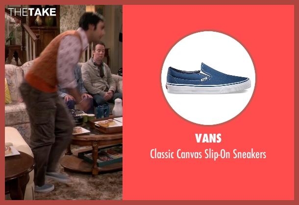 Vans blue sneakers from The Big Bang Theory seen with Raj Koothrappali (Kunal Nayyar)