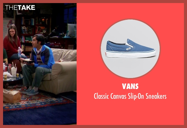 Vans blue sneakers from The Big Bang Theory seen with Raj Koothrappali (Kunal Nayyar)