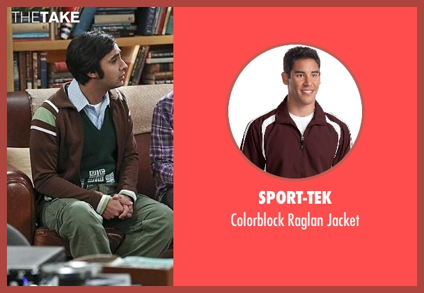 Sport-Tek brown jacket from The Big Bang Theory seen with Raj Koothrappali (Kunal Nayyar)