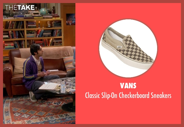 Vans brown sneakers from The Big Bang Theory seen with Raj Koothrappali (Kunal Nayyar)