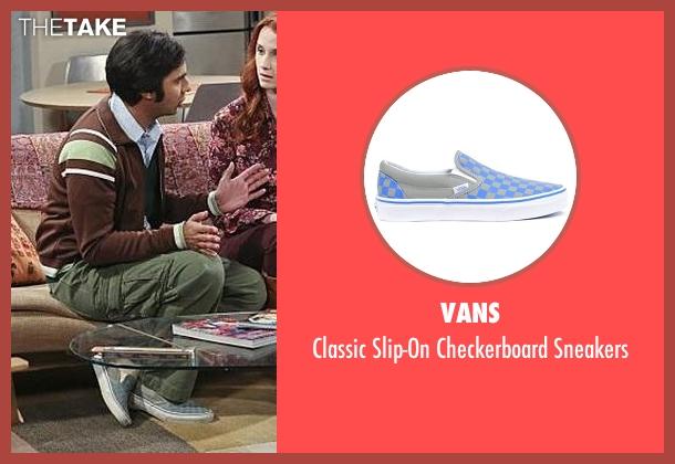 Vans gray sneakers from The Big Bang Theory seen with Raj Koothrappali (Kunal Nayyar)