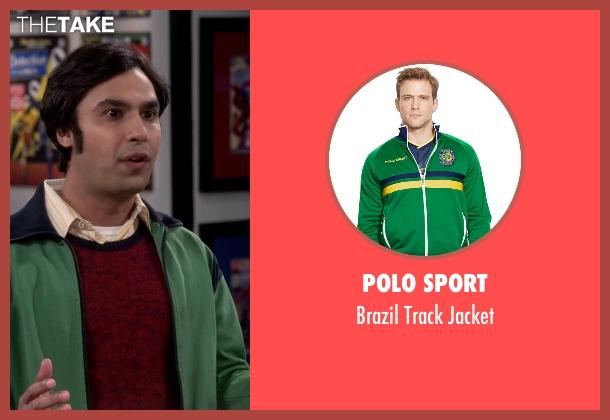 Polo Sport green jacket from The Big Bang Theory seen with Raj Koothrappali (Kunal Nayyar)
