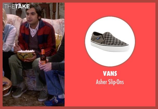 Vans green slip-ons from The Big Bang Theory seen with Raj Koothrappali (Kunal Nayyar)