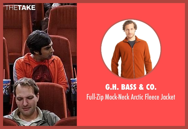 G.H. Bass & Co. orange jacket from The Big Bang Theory seen with Raj Koothrappali (Kunal Nayyar)