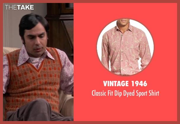 Vintage 1946 pink shirt from The Big Bang Theory seen with Raj Koothrappali (Kunal Nayyar)