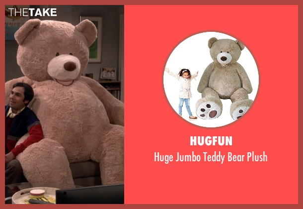 Hugfun plush from The Big Bang Theory seen with Raj Koothrappali (Kunal Nayyar)