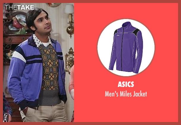 Asics purple jacket from The Big Bang Theory seen with Raj Koothrappali (Kunal Nayyar)