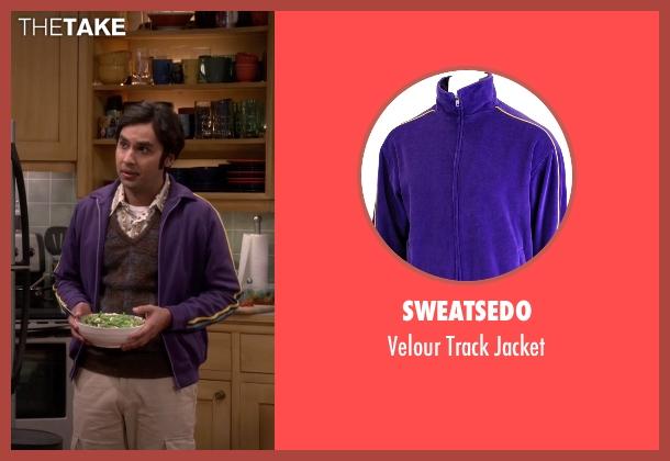 Sweatsedo purple jacket from The Big Bang Theory seen with Raj Koothrappali (Kunal Nayyar)