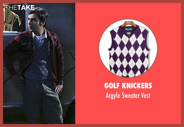Golf Knickers purple vest from The Big Bang Theory seen with Raj Koothrappali (Kunal Nayyar)