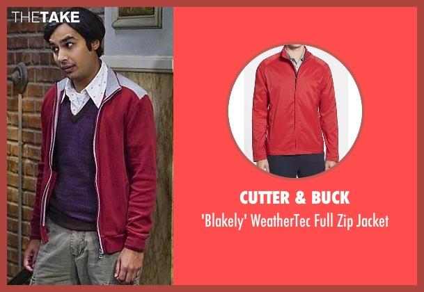 Cutter & Buck red jacket from The Big Bang Theory seen with Raj Koothrappali (Kunal Nayyar)