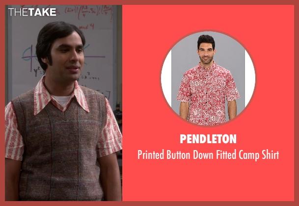 Pendleton red shirt from The Big Bang Theory seen with Raj Koothrappali (Kunal Nayyar)