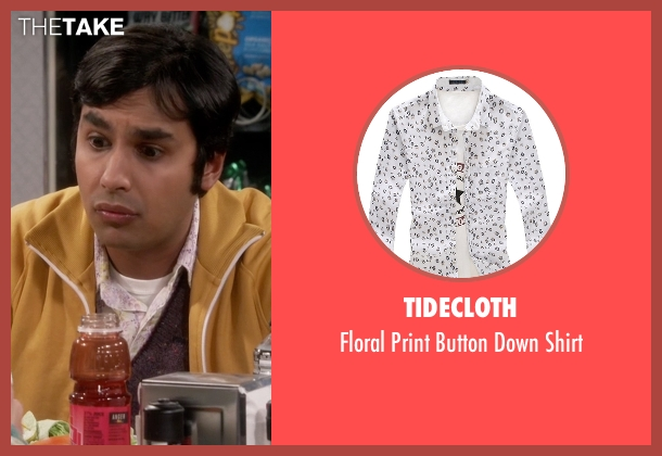 Tidecloth white shirt from The Big Bang Theory seen with Raj Koothrappali (Kunal Nayyar)