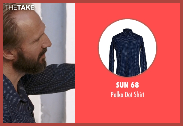 Sun 68 blue shirt from A Bigger Splash seen with Ralph Fiennes (Harry Hawkes)