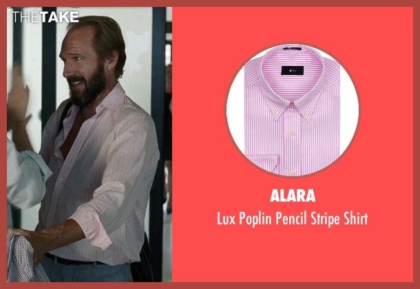Alara pink shirt from A Bigger Splash seen with Ralph Fiennes (Harry Hawkes)