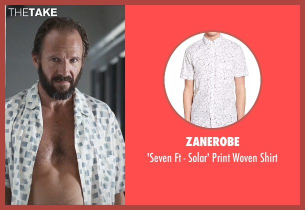 Zanerobe white shirt from A Bigger Splash seen with Ralph Fiennes (Harry Hawkes)